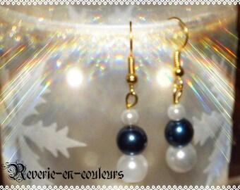 Glass pearl beads earrings