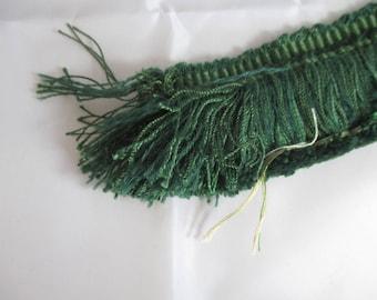 Green fringe trim height 4.5 cm