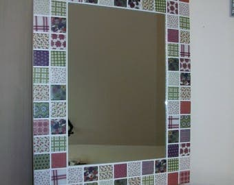 Pink patchwork mirror