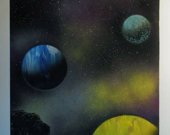 Space painting 14x22