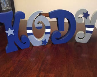 Block letters or wood craft decor
