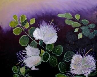 """Decor oil on canvas """"Caper"""""""