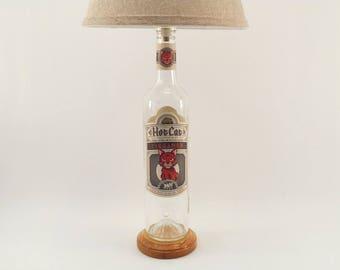 HOT CAT TEQUILA Bottle Lamp