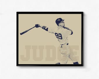 Aaron Judge Sports Poster - All-Star, Home Run, All Rise, Baseball Poster
