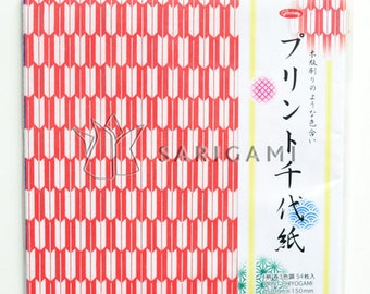 Colorful geometric patterned Japanese origami paper