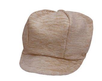Hat style newsboy in Beige Velvet