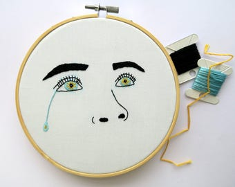 Crying Flower Eyes Embroidery