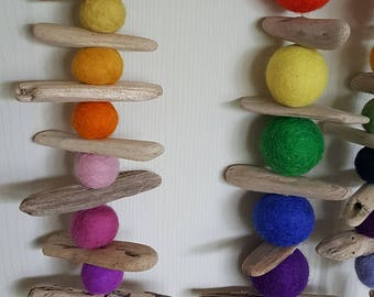 Felted ball Mobile