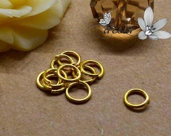 Lot 100 rings, gold, good quality