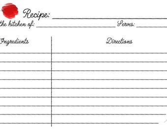 Simple Poppies Recipe Card