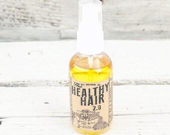 natural hair growth,  hair conditioner,organic hair oil, oil treatment, argan oil, leave in hair treatment, Healthy Hair 2.0, 2 oz