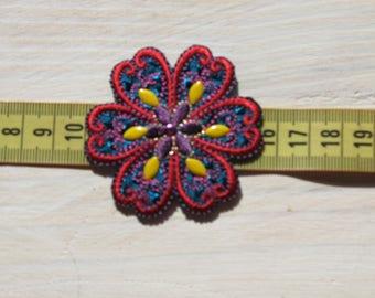 applique flowers heat-sealed 5.5 cm in diameter approx