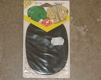 2 reinforcements sewing imitation suede KHAKI 14.5 cm X 10.5 cm