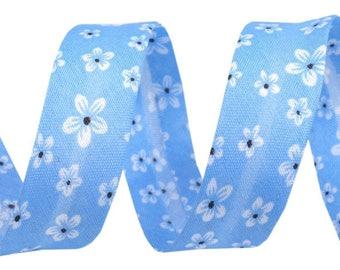 1 m bias blue white flower