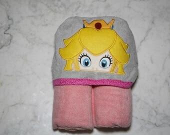 Princess Peach Hooded Towel