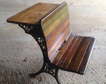 1887 Authentic Flip Seat School Desk