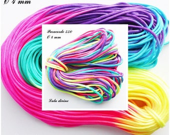 Cord / 550 Paracord 4 mm: Rainbow