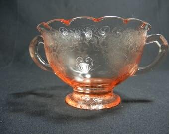Hazel Atlas Pink Florentine No.1 Old Florentine, Poppy Ruffled Sugar