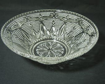 """Heritage Pattern 10 1/2"""" Fruit Bowl by Federal Glass"""