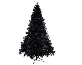 8ft / 240cm Artificial Black Christmas Tree - FIRE CERTIFIED