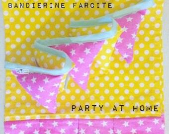 Mini stuffed-party flags Festoon runner +/home