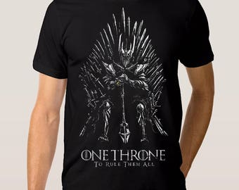 Sauron 'One Throne' Combo T-shirt, Men's Women's All Sizes
