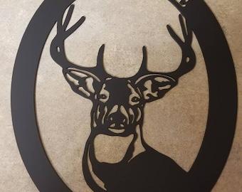 Welcome deer, buck, man cave,  cabin.