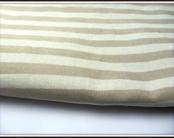 Beige/ecru striped ticking coupon