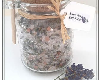 Lavender Bath Salts with EPSOM & Himalayan Salts