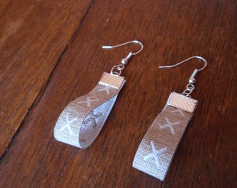 LINEN RIBBON EARRINGS