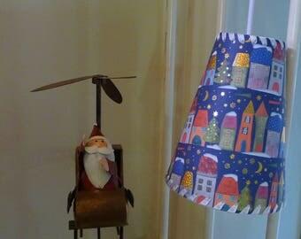 Wandering lamp Noël Papier blue