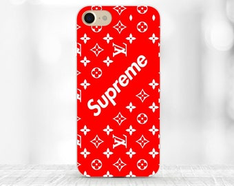 Supreme iPhone case red Supreme Samsung S8 plus case iPhone 7 Supreme Louis Vuitton iPhone 7 plus Supreme case Galaxy s6 case Louis Vuitton
