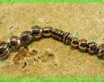 European N2 acrylic bead for bracelet charms
