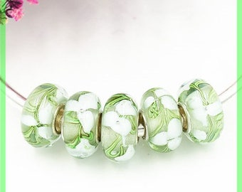 Has HQ1141 European glass bead for bracelet necklace charms