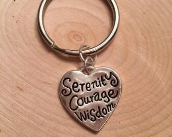 Serenity Courage Wisdom Key Chain