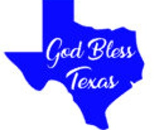God Bless Texas Decal