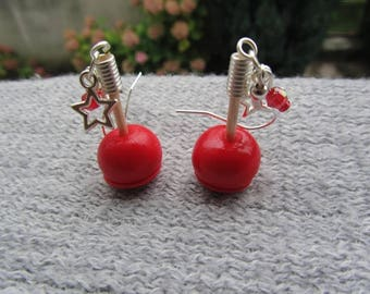 """Earrings """"my apples"""" - silver"""