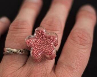 Micro ring beads Fleur Rose