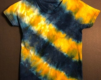 Blue & Gold Tie Dye Toddler 2T shirt