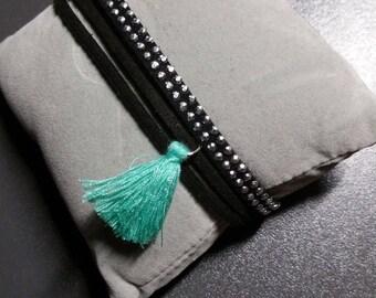 Hand made multi strand Cuff Bracelet