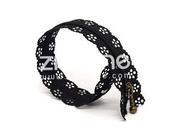 Zipper flowers - inseparable nylon - black - 20 cm