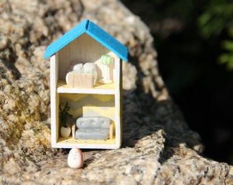 House, house in Ikea style, Provence, a tiny house, a small house, a wooden house, a decor, a birthday present, a doll house