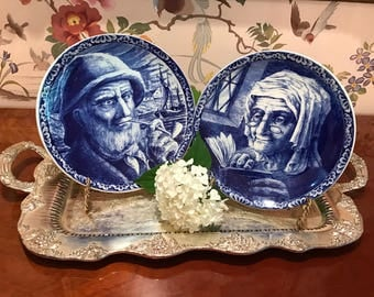 Delft Fisherman and his Wife Plates