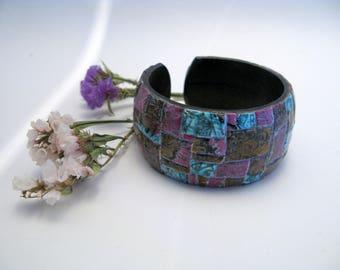 "Wood bracelet ""Mosaic"""