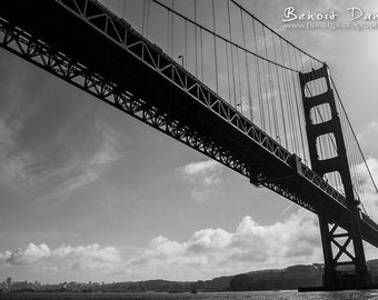 Photography 40x60cm on canvas of the Golden Gate Bridge in San Francisco