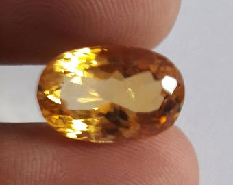 1 Piece, 100% Natural Citrine Oval Shape Faceted cut, Citrine Faceted Oval Cut, Loose Gemstone Beads, 19x13mm Size