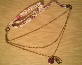 Liberty plum multi-row chains necklace