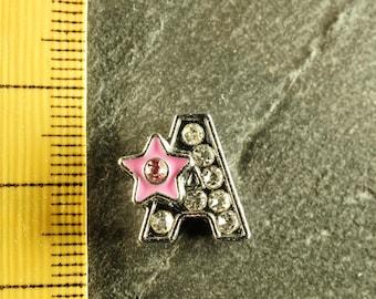 Pearl star N3 letter bandwidth rhinestone alphabet for bracelet