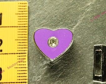 Pearl Heart busy N4 rhinestone bracelet