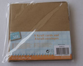 8 CARDS / KRAFT ENVELOPES
